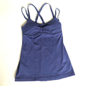Lululemon 4 Purple Tank Top Strappy Double Strap X